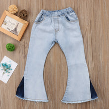 Load image into Gallery viewer, Baby Girls  Wide Leg Jeans - KAUBI TRENDING EMPIRE