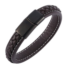 Load image into Gallery viewer, Leather Stainless Steel Magnetic Buckle Charm Bracelets - KAUBI TRENDING EMPIRE