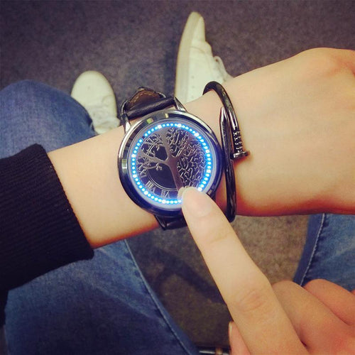 Leather LED Watch - kaubi-online