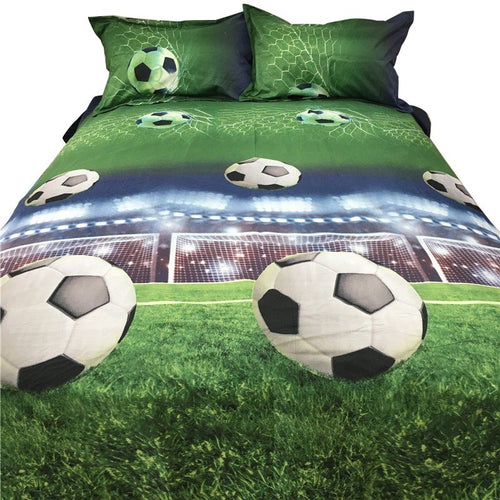Football 3D Bedding Sets Quilt Duvet Cover Bed in A Leaf Of Bag Spread BedsPread Bedset - kaubi-online