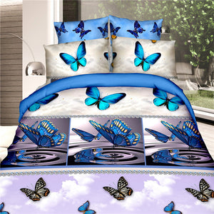 3D Bedding sets quilt duvet cover bed in a bag sheet spread bedspreads bedset pillowcase Queen size - kaubi-online