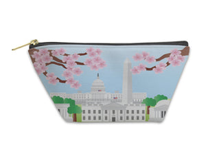 Accessory Pouch, Washington Dc Landmarks With Cherry Blossom - KAUBI TRENDING EMPIRE