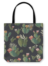 Load image into Gallery viewer, Tote Bag, Cute Cactus Print Pattern - KAUBI TRENDING EMPIRE