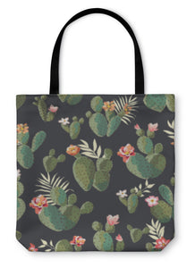 Tote Bag, Cute Cactus Print Pattern - KAUBI TRENDING EMPIRE