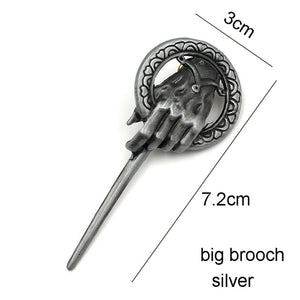Game of Thrones Song of Ice and Fire Brooch Hand of the King Lapel - KAUBI TRENDING EMPIRE
