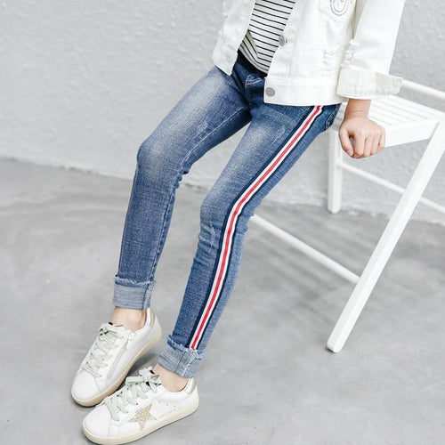 2019 Girls jeans leggings elastic skinny pants - kaubi-online