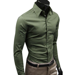 Long Sleeve Men Business Button Shirt - KAUBI TRENDING EMPIRE