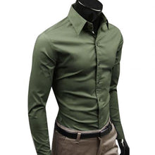 Load image into Gallery viewer, Long Sleeve Men Business Button Shirt - KAUBI TRENDING EMPIRE