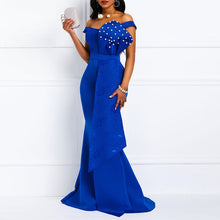 Load image into Gallery viewer, Off Shoulder Sexy Mermaid Beads Dresses - KAUBI TRENDING EMPIRE