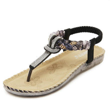 Load image into Gallery viewer, Silver T-strap Flip Flops Thong Sandals - KAUBI TRENDING EMPIRE