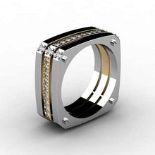 Load image into Gallery viewer, Cool Boy Fashion Hiphop Geometric Punk Square Shaped  Ring - KAUBI TRENDING EMPIRE