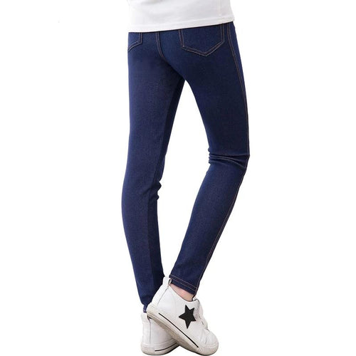 Girls Jeggings Pencil knit Imitation Jeans - kaubi-online