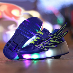 Roller Skate Sneakers with Wheels glowing Led Light Up Unisex - KAUBI TRENDING EMPIRE