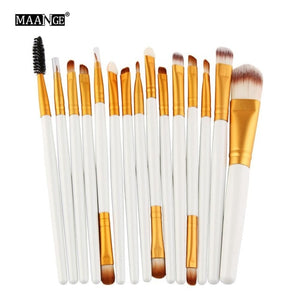 15Pcs Makeup Brushes Set Eye Shadow Foundation Powder - KAUBI TRENDING EMPIRE