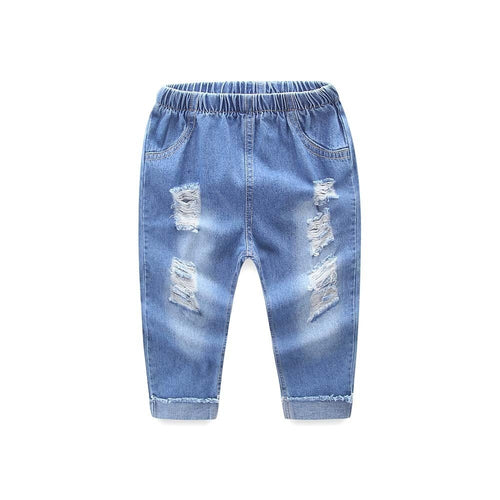 Baby jeans  Infant unisex Hole Jeans Denim Casual Long Pants - KAUBI TRENDING EMPIRE
