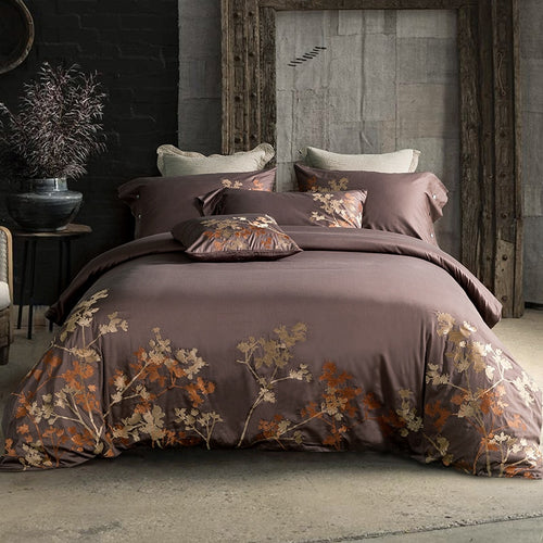 MYRU Luxury Tribute Silk Cotton Embroidery Luxury Bedding Set Noble Palace Royal BedSet King Queen Size Duvet cover Bedsheet Set - KAUBI TRENDING EMPIRE