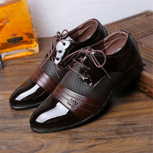 Casual Dress Shoes: Pointed Toe  Oxford Men's Dress Shoes - KAUBI TRENDING EMPIRE