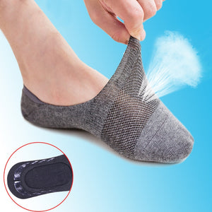 5Pairs Men Socks Breathable Invisible Slippers Shallow Mouth - KAUBI TRENDING EMPIRE