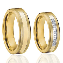 Load image into Gallery viewer, Wedding Band ring set gold color Titanium - KAUBI TRENDING EMPIRE