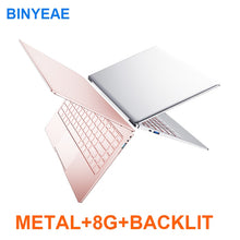 Load image into Gallery viewer, Metal Body 13.3/14 inch With Backlit Keyboard Gaming Laptop 8G RAM 1TB 512G 256G 128G M.2 SSD Notebook Computer IPS FHD Netbook - KAUBI TRENDING EMPIRE