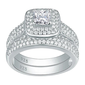 2.26 Ct Classic wedding ring, 2pcs - KAUBI TRENDING EMPIRE