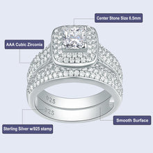 Load image into Gallery viewer, 2.26 Ct Classic wedding ring, 2pcs - KAUBI TRENDING EMPIRE