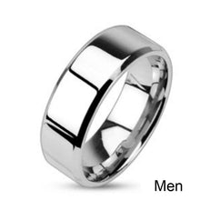 Load image into Gallery viewer, Zirconia Stainless Steel Wedding Ring Set - KAUBI TRENDING EMPIRE