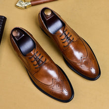 Load image into Gallery viewer, 2019  Italian Classic Dress Shoes Genuine Leather Male Oxford - kaubi-online