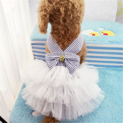 Dog lace bowknot Dress - KAUBI TRENDING EMPIRE