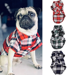 Plaid Vest Shirt Pet Clothes for Cats and  Dogs - KAUBI TRENDING EMPIRE