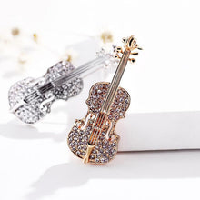 Load image into Gallery viewer, Violin Brooch Lapel Pins Rhinestone - KAUBI TRENDING EMPIRE