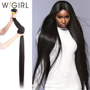 Wigirl wholesale Brazilian Hair Weave Bundles Straight Human Hair 30 32 40 Inches 10 Bundles Raw Virgin Hair Weft Hair Extension - KAUBI TRENDING EMPIRE