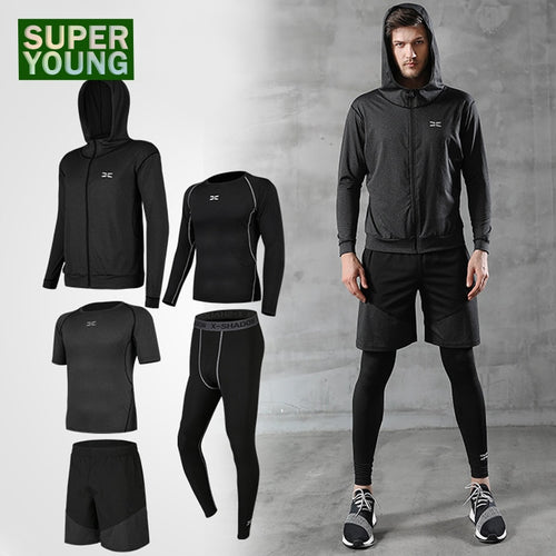 Men Tracksuit Sport Gym Wear Jogging Suit - KAUBI TRENDING EMPIRE
