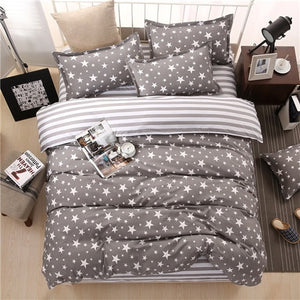 bedding duvet cover Nordic style bedding bed linen grey flat sheet, super king bedset - KAUBI TRENDING EMPIRE