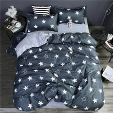 Load image into Gallery viewer, bedding duvet cover Nordic style bedding bed linen grey flat sheet, super king bedset - KAUBI TRENDING EMPIRE