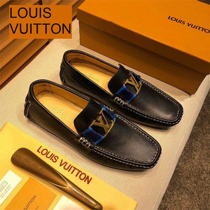 Louis Vuitton Genuine Leather shoes - KAUBI TRENDING EMPIRE
