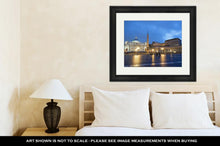 Load image into Gallery viewer, Framed Print, Colosseum Rome Vatican Place Saint Peter Cathedral At Night - KAUBI TRENDING EMPIRE