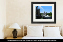 Load image into Gallery viewer, Framed Print, Salem Oregon Capitol Building And Water Fountain - KAUBI TRENDING EMPIRE