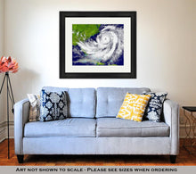 Load image into Gallery viewer, Framed Print, Hurricane Over Florida And Cuba - KAUBI TRENDING EMPIRE