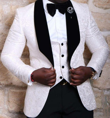 New Style Groomsmen Shawl Lapel Groom Tuxedos Suits - KAUBI TRENDING EMPIRE