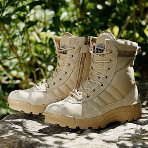 Lightweight Military Tactical Combat Layer leather Waterproof Boots - KAUBI TRENDING EMPIRE
