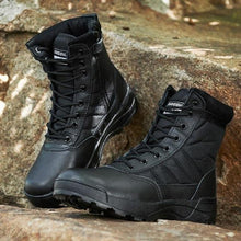 Load image into Gallery viewer, Lightweight Military Tactical Combat Layer leather Waterproof Boots - KAUBI TRENDING EMPIRE