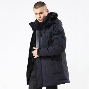 2019 New Winter Long Style Hooded Epaulet Cotton Padded Jackets  for Men - KAUBI TRENDING EMPIRE
