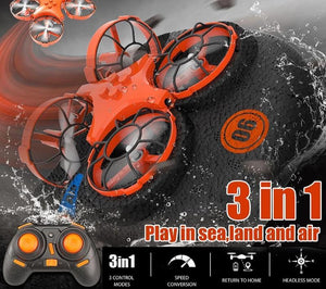 3-in-1 EPP Flying Air Boat Land Driving Mode Detachable One Key Return RC Drone - KAUBI TRENDING EMPIRE