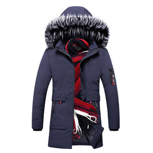 15 Degree Thicken Warm Parkas Hooded Fleece  Jacket for Man's - KAUBI TRENDING EMPIRE