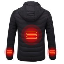 Load image into Gallery viewer, Men's Electric Heated Jackets USB Heating Winter Solid Parka for Men - KAUBI TRENDING EMPIRE