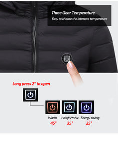 Men's Electric Heated Jackets USB Heating Winter Solid Parka for Men - KAUBI TRENDING EMPIRE