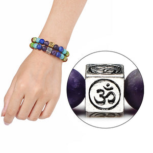 Yoga Natural Stone Tree Of Life OM Charm Bracelet - KAUBI TRENDING EMPIRE