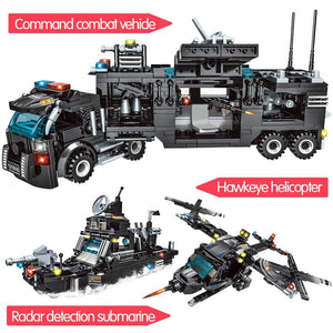 715pcs City Police Station Building Blocks Compatible Lego Truck Blocks Educational Toy For Boys - KAUBI TRENDING EMPIRE