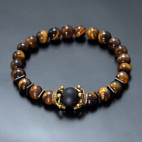 High quality Tiger eye stone bead Bracelets - KAUBI TRENDING EMPIRE
